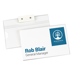 Name Badge With Magnetic Back