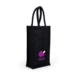 Jute Wine Bag  Double